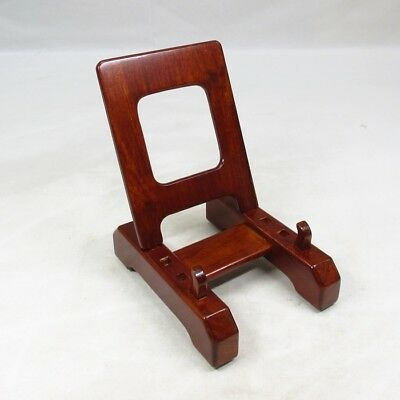 D291: Japanese wooden stand for plate made from KARAKI. 2