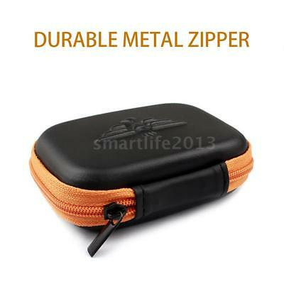 Mini Earphone Headphone Hard Case Storage Bag Box For USB MP3 Cable Charger A2P9