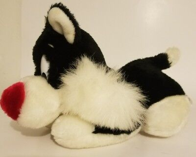 "Vintage 1987 Warner Brothers Sylvester The Cat Plush 11"" Long Lying Down"