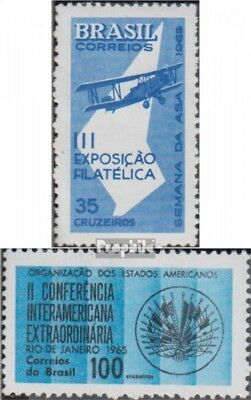 Brazil 1090,1091 (complete.issue.) unmounted mint / never hinged 1965 Stamp Exhi