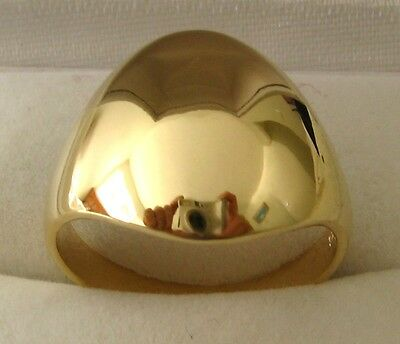 GENUINE SOLID 9K 9ct YELLOW GOLD STUNNING DOME RING Size O/7.5 to T/10