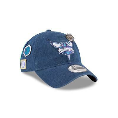 New Era Charlotte Hornets 2018 NBA Draft 9TWENTY Adjustable Cap Blue Denim