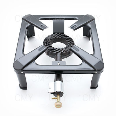 New Cast Iron Large Gas LPG Burner Cooker Gas Boiling Ring Camping Catering