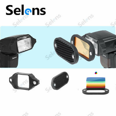 SelensHoneycomb Grid With 7Color Gels High Quality Set For Speedlight Flashes