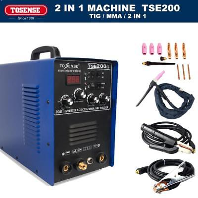 TOSENSE 220/110V 60% rated cycle 200A TIG MMA TSE200G WELDER  WELDING MACHINE