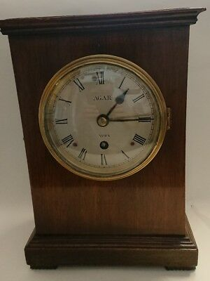 Antique Georgian Fusee Library/Table Clock by AGAR York Working