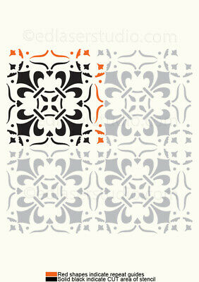 Tile Stencil 100mm Moroccan Template Home Decor Paint Furniture Card making  TL7