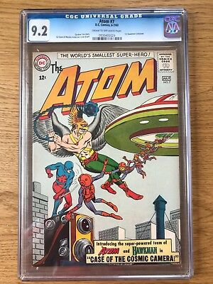 ATOM #7  6-7/63 CGC 9.2 HIGH GRADE Hawkman X-Over 1st Atom & Hawkman team up