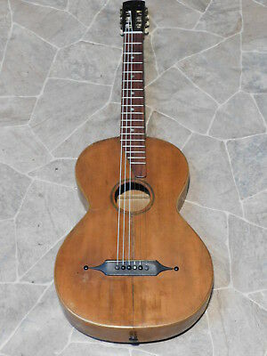 interesting  historic all solid parlor GUITAR 吉他 Gitarre guitare Germany 1920s