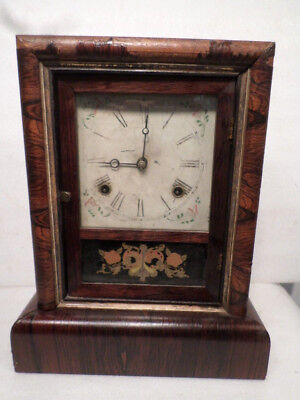 E.N. Welch 1885 Cottage Shelf Clock With Strike On The Hours