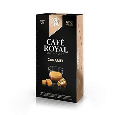 Café Royal Flavoured Caramel Coffee Pods Compatible with Nespresso System, 50 g,
