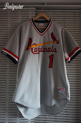 Ozzie Smith 1985 - 1988 St Louis Cardinals Authentic Baseball Jersey