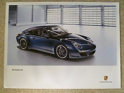 2010 Porsche 911 Carrera 4S Coupe Showroom Advertising Poster RARE! Awesome L@@K