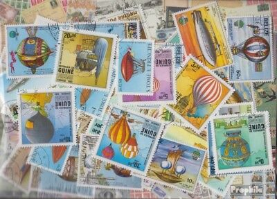 Motives Balloon and zeppelins in complete Expenditure Stamps-50 different stamps