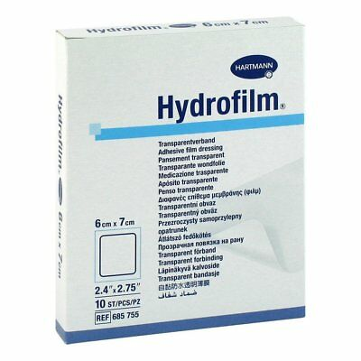 Hydrofilm Transparent Adhesive Film Dressings 6cm x 7cm - Box of 10