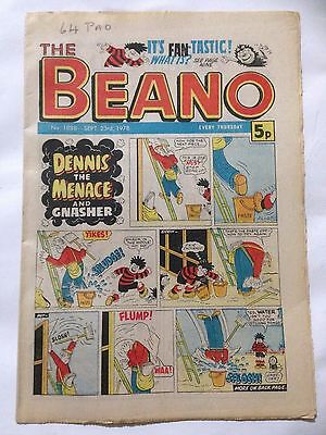 DC Thompson THE BEANO Comic. Issue 1888 September 23rd 1978 **Free UK Postage**