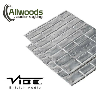 Vibe Anti-Vibe Car Audio Sound Deadening 2.5mm 2 Sheets Door Speaker Kit