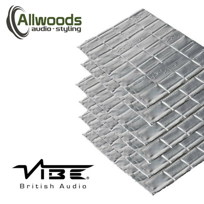 Vibe Anti-Vibe Car Audio Sound Deadening 2.5mm Car 6 Sheets Sound Proofing