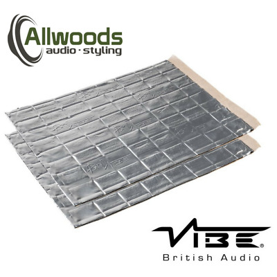 Vibe Anti-Vibe Car Audio Sound Deadening 2.5mm Car 2 Large Sheets Sound Proofing