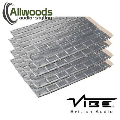 Vibe Anti-Vibe Car Audio Sound Deadening 2.5mm Car 4 Large Sheets Sound Proofing