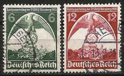 Germany Third Reich 1935 Used Nuernberg Party Congress Reichsparteitag SG 583/4