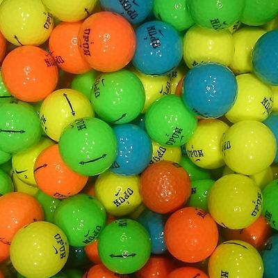 Nike MOJO Coloured Golf Balls Pearl / A Lake Grade Optic Pink Blue Orange Yellow