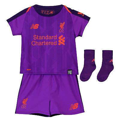 Official Liverpool Away Baby Kit Shirt Shorts Jersey Suit Football 2018 19