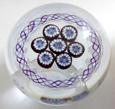 Mike Hunter - Twists Glass Rondello Style Paperweight