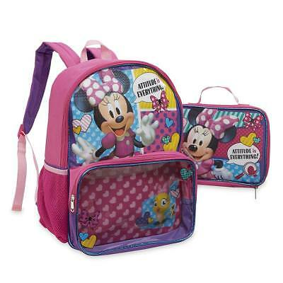 6d1ee0a2b3f Disney Minnie Mouse Girls  Backpack   Insulated Lunch Bag Attitude is  Everything