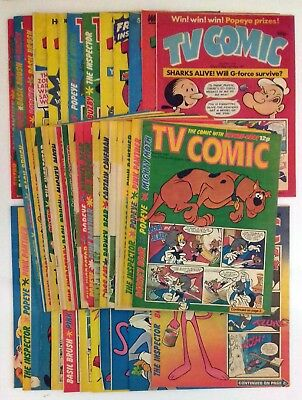 JOB LOT TV Comic 43 Issues 1980 1981 Pink Panther Scooby Doo Basil Brush