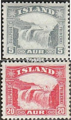 Iceland 150-151 fine used / cancelled 1931 Gullfoss