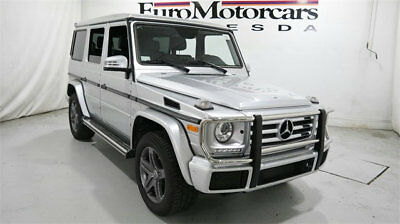 Mercedes-Benz G-Class G 550 4MATIC SUV mercedes benz g 550 g550 4matic suv awd silver 16 17 18 used black navigation