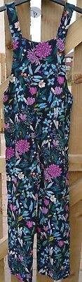 next girl's colorful sleeveless summer jumpsuit size 9 yrs