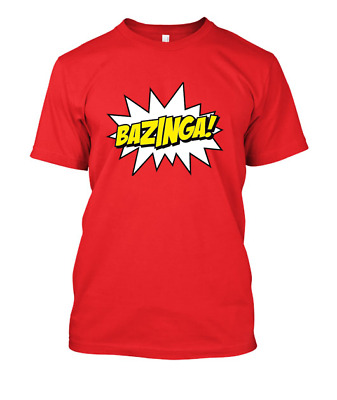 BAZINGA Big Bang Theory Sheldon tshirt t-shirt tee shirt 25 colours 4 sizes