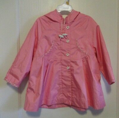 Giacca Young Gallery Pink Hooded Spring Jacket Girls Size 2T   #18