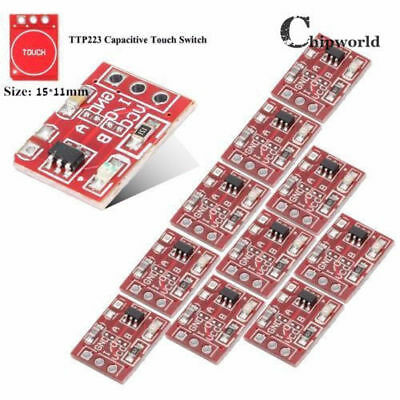 100pcs TTP223 Touch Key Module Capacitive Settable Self-lock/No-lock Switch