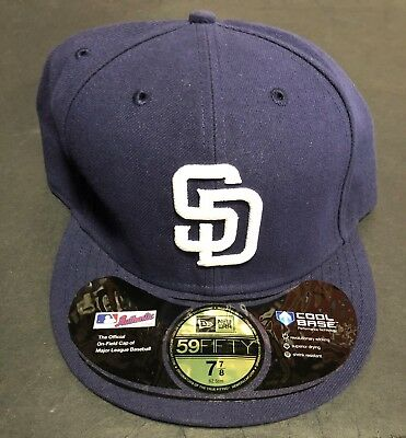02a3631b0f249e San Diego Padres Authentic New Era Hat NWT 7 7/8 Size Official on field
