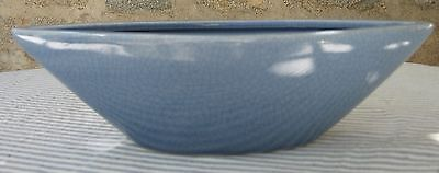 Fabulous W C L Pottery Blue Crazed Banana Boat Style Planter