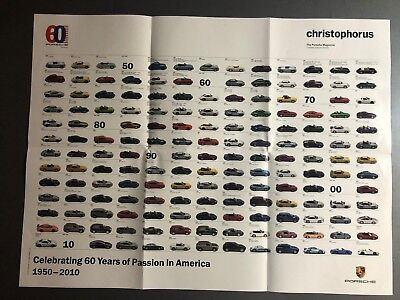 2010 Porsche Christophorus Historical Models Poster RARE!! Awesome L@@K