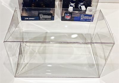 10 Box Protectors for FUNKO WOBBLERS / NFL Vinyl Figures Clear Display Case Pop!