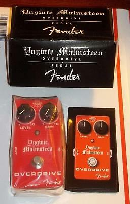 Fender® Yngwie Malmsteen Overdrive Pedal~Red~AC Or Battery~0234507000~Brand New