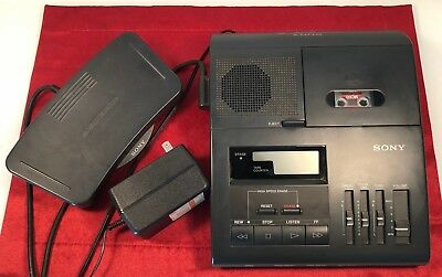 Sony Microcassette transcriber with foot pedal Model BM 840