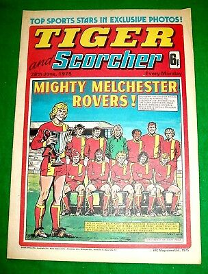 Tiger Comic 28/6/1975 With  Melchester Rovers Team  Super Cover
