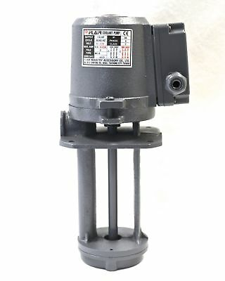 "​1/8 HP Machinery Coolant Pump, 220V/440V, 3PH, Shaft 6"" (150mm), CE, FLAIR"