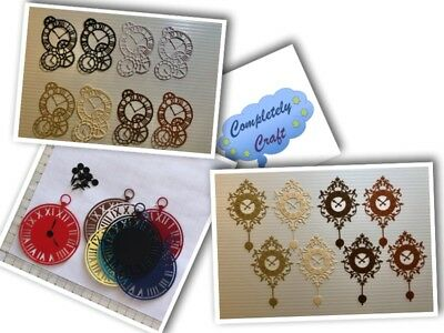 Clock Themed Die Cuts - Scrapbooking, Card, Topper, Embellishments
