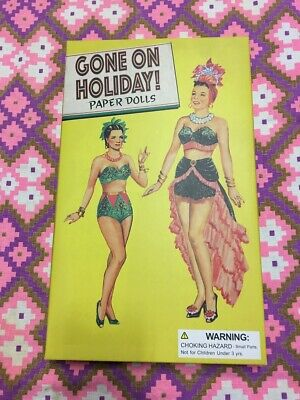 VINTAGE Style Paper Doll Set - Gone On Holiday - 1950's