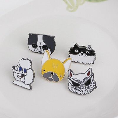1Pc Creative Cute Cartoon Lovely Animal Puppy Dog Metal Brooch Pins Jewelry Gift