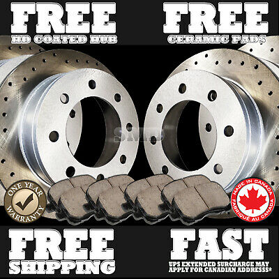 P1143 FIT 2009 2010 2011 2012 2013-2017 Ram 2500 Ram 3500 Rotors Pads F+R