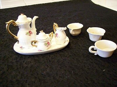 VINTAGE JAPANESE CHILDRENS MINIATURE TEA SET WITH EXTRAS >50's