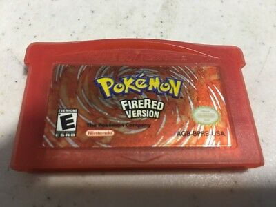 POKEMON FIRE RED FIRERED VERSION GAME Authentic GBA GAME BOY ADVANCE GAMEBOY